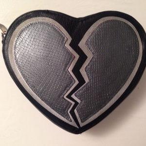 Circus Sam Edelman Heart Shaped Purse black silver